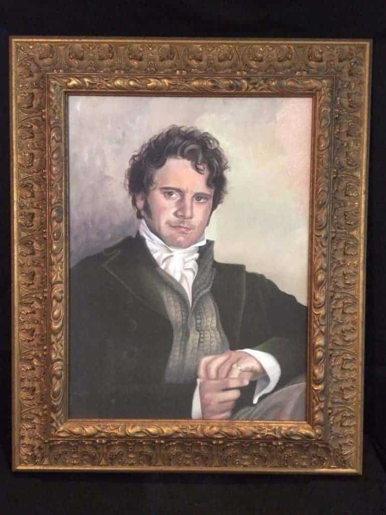 Mr. Darcy Colin Firth oil painting